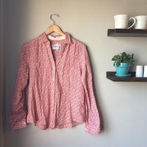 Anthropologie Holding Horses Floral Buttondown
